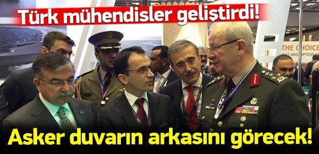 Türk mühendislerden duvarın arkasını gören radar!