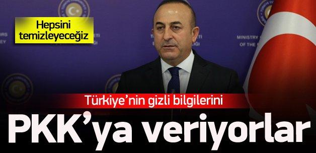 'Türkiye'nin gizli bilgilerini PKK'ya veriyorlar'