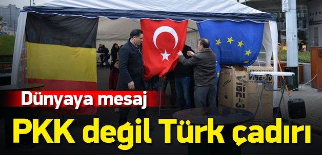 Türkler Brüksel'de çadır kurdu