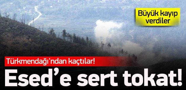 Türkmendağı'nda Esed rejimi geri püskürtüldü