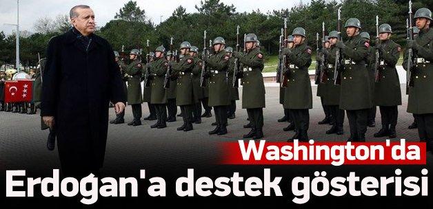 Washington'da Erdoğan'a destek gösterisi