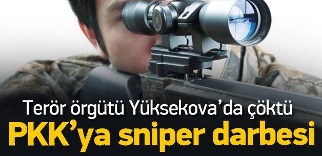 Yüksekova'da PKK'ya keskin nişancı darbesi!