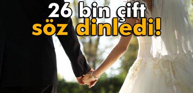 26 bin çift söz dinledi, boşanmadı!