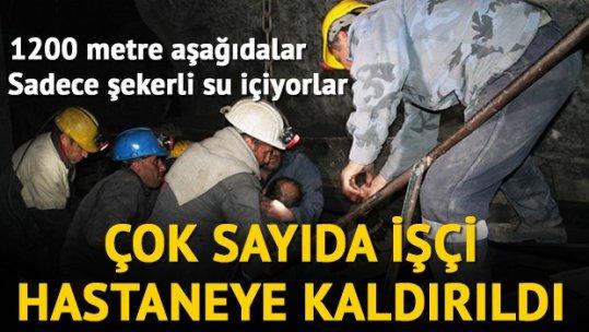 Açlık grevindeki 34 işçi fenalaştı