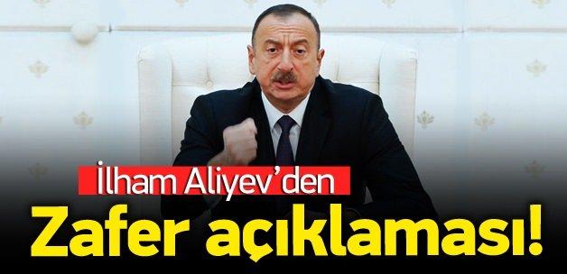 Aliyev: Büyük bir zafer kazandık!