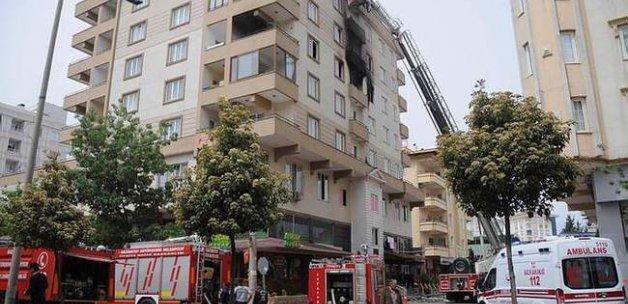 Apartmanda tüp patladı: Yaralılar var