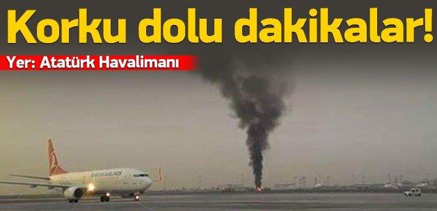 Atatürk Havalimanı'nda yangın!