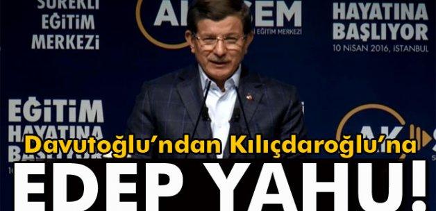 Başbakan Davutoğlu'ndan Kılıçdaroğlu'na 'edep yahu' göndermesi