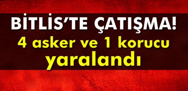 Bitlis'te çatışma: 1 korucu ve 4 asker yaralandı