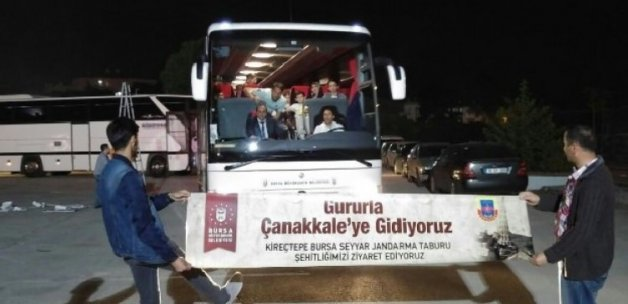 Çanakkale'ye 125 otobüsle çıkartma!
