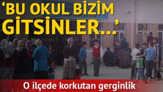 Çocuklarının Suriyeli çocuklarla aynı okula gitmesini protesto ettiler