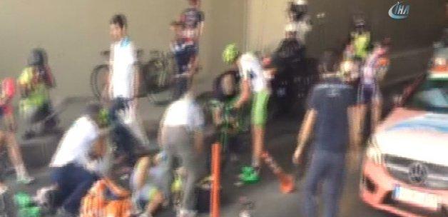 Cumhurbaşkanlığı Bisiklet Turu'nda kaza: 4 yaralı