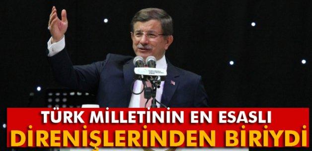 Davutoğlu: 'Kutü'l - Amare'yi yeniden hem de devlet töreniyle kutluyoruz'