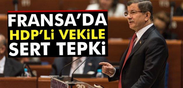 Davutoğlu'ndan, İngilizce soru soran HDP'li Kükçü'ye yanıt
