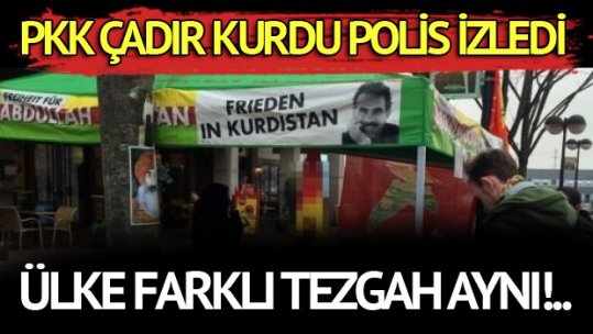 Dortmund'da PKK çadırı kuruldu