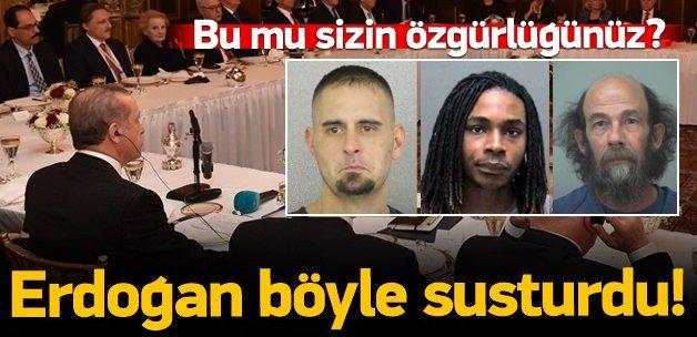 Erdoğan'dan ABD ve Avrupa'ya basın özgürlüğü dersi