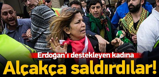 Erdoğan'ı destekleyen kadına saldırı