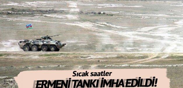 Ermeni tankı imha edildi