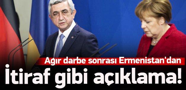 Ermenistan'dan itiraf gibi açıklama