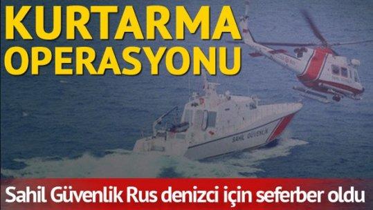 Gemide düşerek yaralanan Rus gemiciyi kurtarma operasyonu