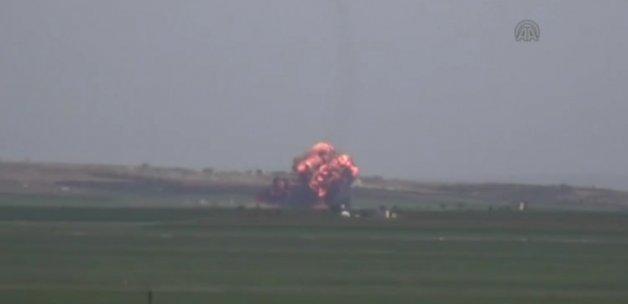 Halep'te Esed'e ait uçak düşürüldü