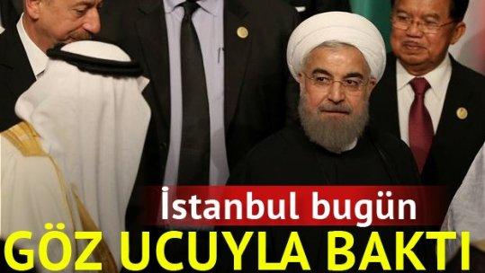 İslam İşbirliği Teşkilatı Zirvesi'nde Ruhani ile Kral Selman karşı karşıya