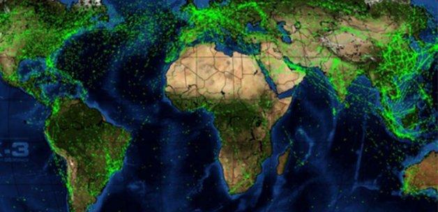 İşte Dünya'nın gökyüzü trafiği!