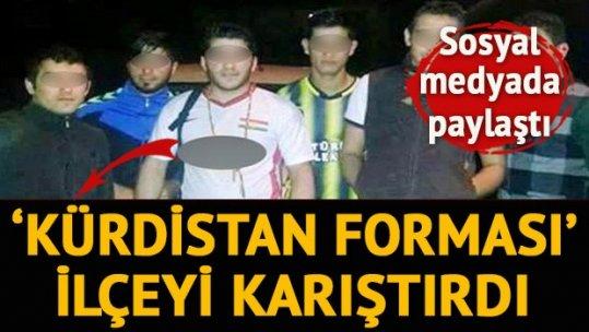 İzmir'de 'Kürdistan forması' gerginliği