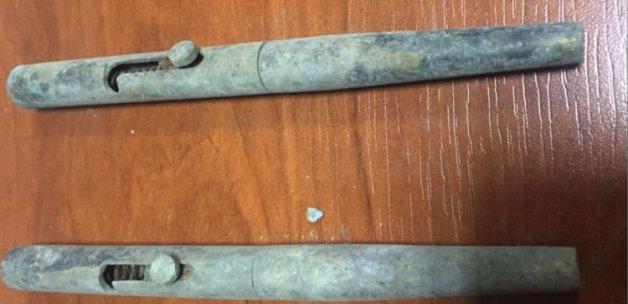 Kalem şeklinde silah ele geçirildi