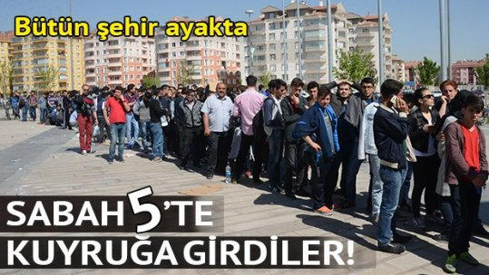 Konya'da Fenerbahçe için saat 05.00'de bilet kuyruğu
