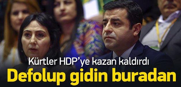 Kürt halkı HDP'ye isyan bayrağı açtı