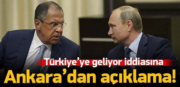 'Lavrov' iddiasına Ankara'dan yalanlama