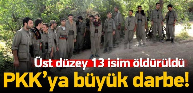 Listedeki 13 terörist öldürüldü