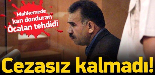 "Mahkemede ""Öcalanlı"" tehdide ceza!"