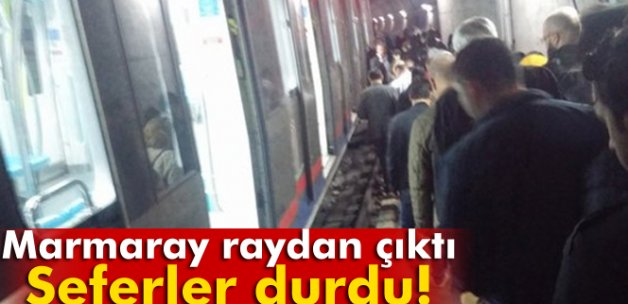Marmaray seferleri durdu!