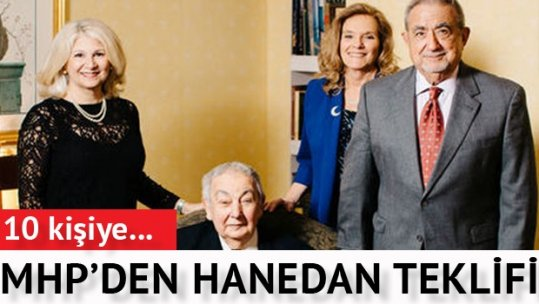 """MHP'den """"Hanedana maaş bağlansın"""" önerisi"""