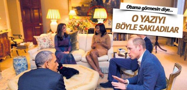 Obama görmesin diye 'zenci' yazısını gizlediler!