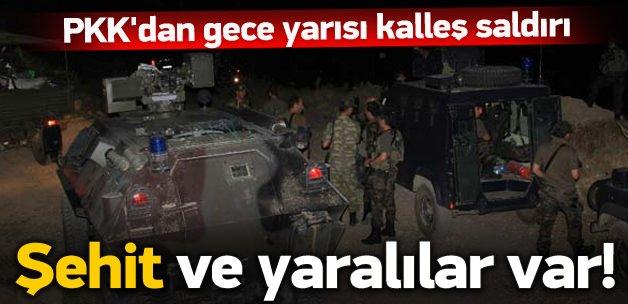 PKK'dan gece yarısı kalleş saldırı