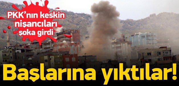 PKK'lı keskin nişancılara top atışı!
