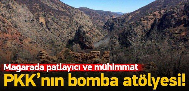 PKK'nın bomba atölyesi olarak kullandığı mağara