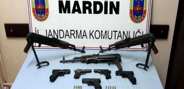 Polisi şehit eden PKK'lıların silahları ele geçti