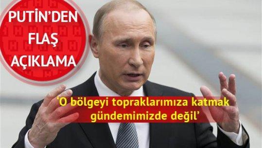 Putin'den flaş açıklama: Güney Osetya'yı topraklarımıza katmak gündemimizde yok