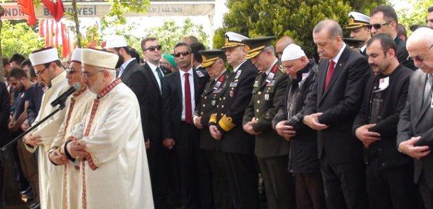 Şehidin cenaze törenine Cumhurbaşkanı da katıldı