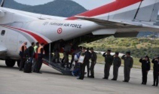 Şehidin cenazesi Türk Yıldızları uçağıyla taşındı