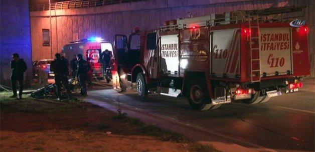 Şişli'de feci motor kazası; taktığı kask hayatını kurtardı