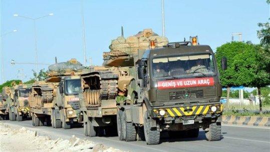 Tank ve zırhlılar Kilis'te...