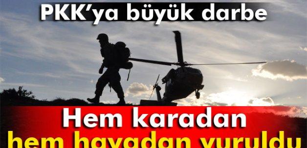 Terör örgütü PKK hem karadan hem havadan vuruldu