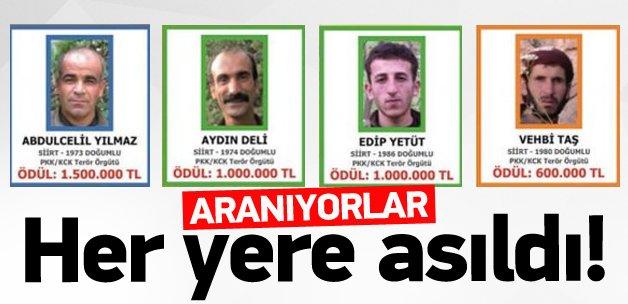 Teröristlerin fotoğrafları billbordlarda