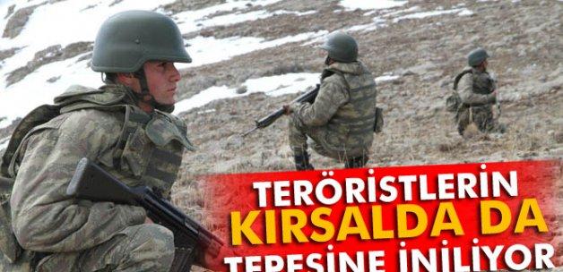 Teröristlerin kırsalda da tepesine iniliyor