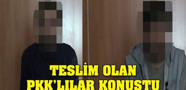 Teslim olan PKK'lılar konuştu
